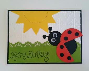 Ladybug Birthday Card Birthday Greeting Card Birthday Card for Girl Happy Birthday Card for Granddaughter Birthday Card with Ladybug