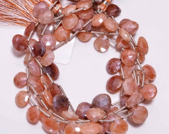 Orangonite Heart Shape top drilled strand/4 strands/size-9x11mm approx