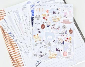 Night's Dream Sticker Kit (Glam Planner Stickers for Erin Condren Life Planner)