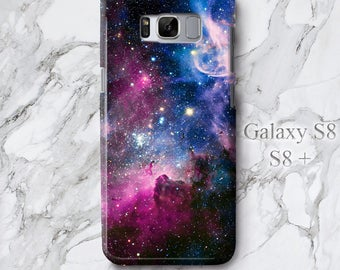 Samsung S8 Plus Space Galaxy Phone Case, S8 Astronomy Stars Mystery iPhone 7 Cover, Hipster iPod Touch 6 Full Wrap Protective 3D Edgeless