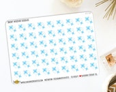 Snow Weather Hand Drawn Doodle Planner Stickers | Made to fit Erin Condren, Limelife Planner, Personal Planners & More. 431M