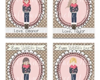 Looks Like Me Valentine Cards - Personalized Valentine Cards - Girl Cards - Classroom Cards