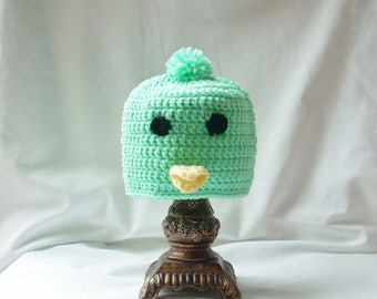 Baby Easter Chick Hat, Baby Chick Hat, Boy Easter Hat, GIrl Easter Chick Hat, Animal Crochet Hat, Spring Animal Hat, Baby Bird Hat