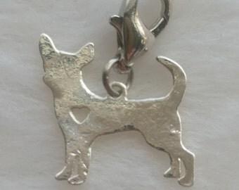 Chihuahua Dog Love Heart Charm