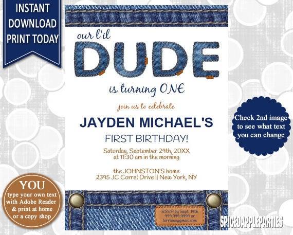 Boys first birthday invitation 1st birthday printable invitation il570xn filmwisefo