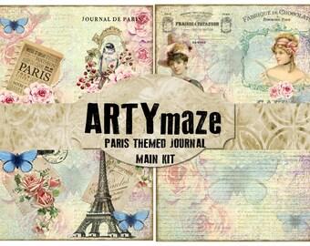 PARIS Themed digital Journal  *instant download*