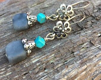 Boho Earrings, Flower Earrings, Dandle Earrings, Unique Earrings, Earrings