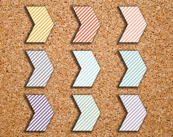 135 Striped Arrow Geometric Shape Planner Stickers for 2017 Inkwell Press IWP-S82