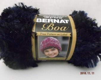 Bernat Boa Yarn ~ 100 Grams/3.5 oz ~ 129 Yards ~ Nightingale ~ # 5 Bulky ~