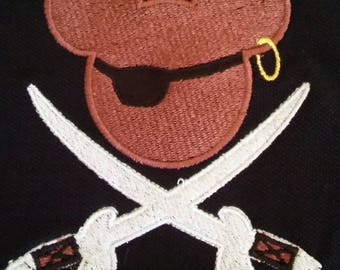 Mickey Pirate Embroidered T-Shirt