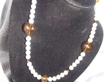 Handcrafted Glass and Bead Neclace