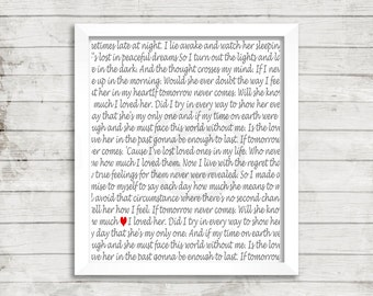 If Tomorrow Never Comes song lyrics, Wall Art, Instant Digital Download, ready to print,frame and hang