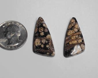 Matched pair of art stones baeK