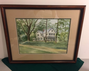 Painting, Original Watercolor Painting, Framed Art