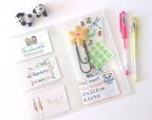 Pochette zip PVC pour votre Midori, accessoire pour Faux-Dori, traveler's notebook