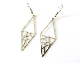 Geometric stainless steel earrings