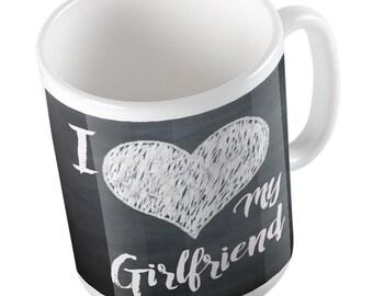 I Heart my Girlfriend cute love mug