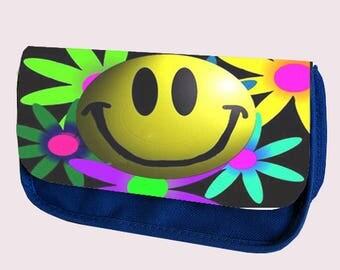 Emoji Smilie FLOWER Pencil Case / Clutch or Make up Bag