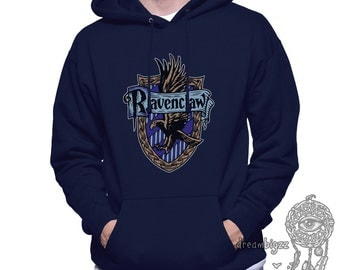 Ravenclw Crest #2 Full Color printed on Unisex Hoodie