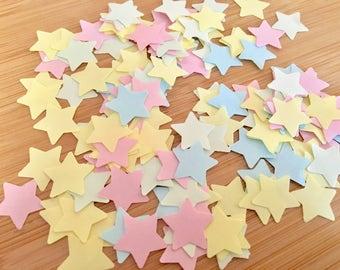 1000 x Pastel Star Shaped Confetti