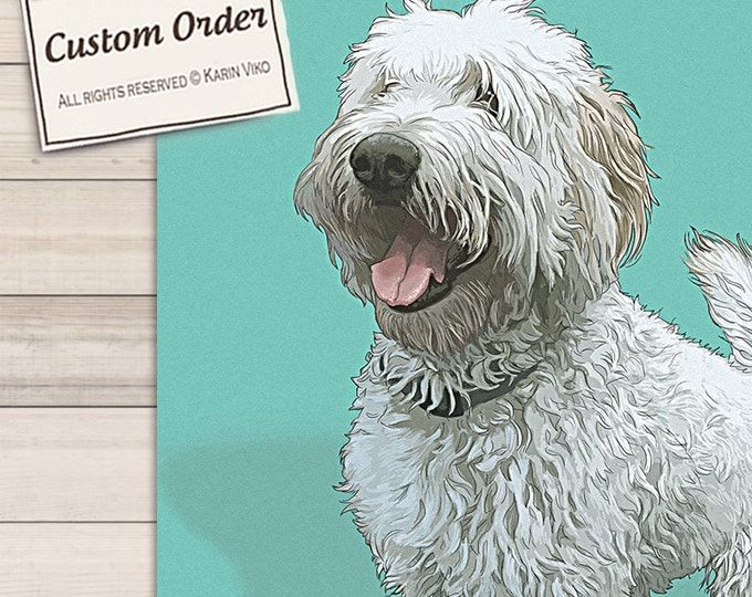 Featured listing image: Pet portrait. Detailed Pet Portraits. Custom portrait from photo. Custom drawing. Dog. Animals. Gift for.