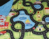 "Help Is On The Way Travel Playmat with 6 ""garage"" pockets"