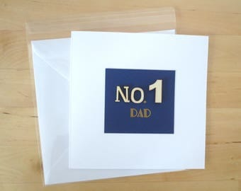 No. 1 Dad, Card for dad,  Fathers day card, father's day, Happy fathers Day, Greeting cards handmade, Handmade cards, Happy fathers day