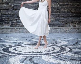 Raw Silk Dress, 60s Silk Dress, Silk Dress, Raw Silk, White Dress, 1960s, Women dress, Size 2 Dress, Size 3 Dress, Size 4 Dress, Chic Dress