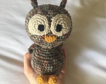 Owl, Crochet Owl, Amigurumi Owl, Stuffed Owl, Owl Toy, Owl Plushie, Crochet Bird