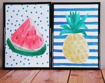 Pineapple print Etsy