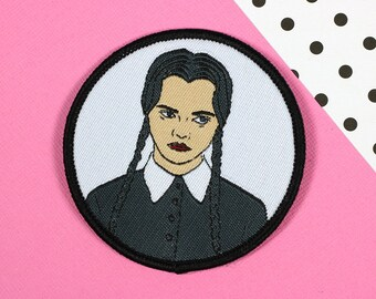 Wednesday Addams Iron On PATCH // patch, patch game // PT025