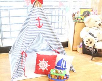 Nautical teepee- little wanderer tipi- teepee