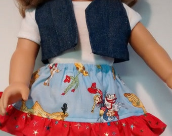 3 piece cowgirl outfit for the American Girl doll