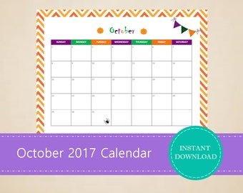 calendar of october 2017 pdf
