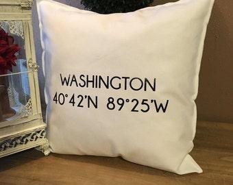 WASHINGTON Illinois Coordinate 18x18 Pillow Case