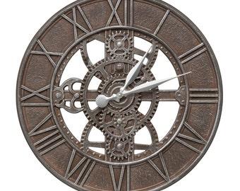 """Gear 21"""" Indoor/Outdoor Wall Clock"""