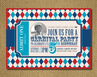 PRINTABLE |  Carnival Birthday Invite