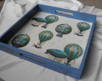 Altered tray vintage balloons
