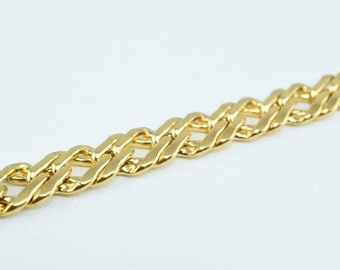 New Gold Filled Chain 18K Size 6x2mm for Jewelry Making GFC48 Sold by Foot