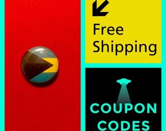Bahamas Flag Button Pin, FREE SHIPPING & Coupon Codes