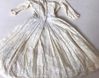 Stunning 1950s Jonathan Logan Lace Shirtdress XS/S