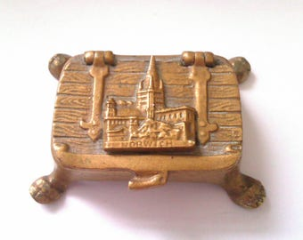 small brass trinket box