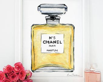 Download Printable Chanel Perfume, Chanel Perfume Bottle Art, Chanel stickers, Chanel inspired artwork, Chanel Poster, Fashion art clipart
