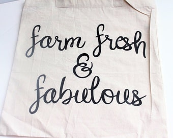Reusable Grocery Bag,Farm Fresh Bag, Shopping Bag, Market Bag