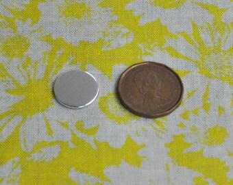 10 Polished 1/2' Metal Stamping Disc Blanks 18g 1100 Food Safe Aluminum