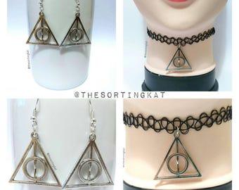 Harry Potter: Deathly Hallows Earrings / Deathly Hallows Choker