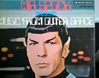 Vintage Vinyl Album Leonard Nimmoy Mr Spock Presents Music From Outer Space