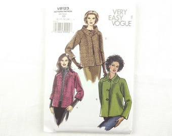 Vogue sewing pattern #V8123 for misses coats jackets 3 styles sizes 8-14 NEW