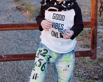 Boys or Girls Denim hand painted any way you like For any Occasion