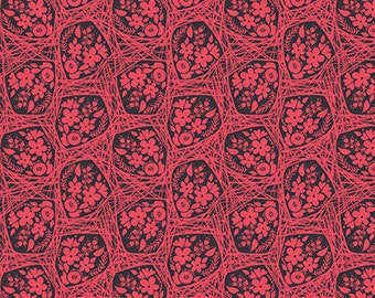 True Colors by Anna Maria Horner for FreeSpirit / Haystack Bouquet in Country (Red) / 1 Yard